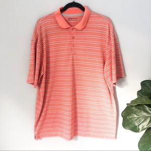 Nike Golf Fit Dry Golf Polo Orange and Gray